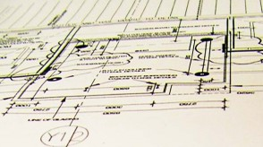 An image of blueprints for a straw-bale house